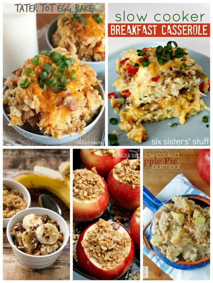 slow cooker Make Ahead Breakfasts