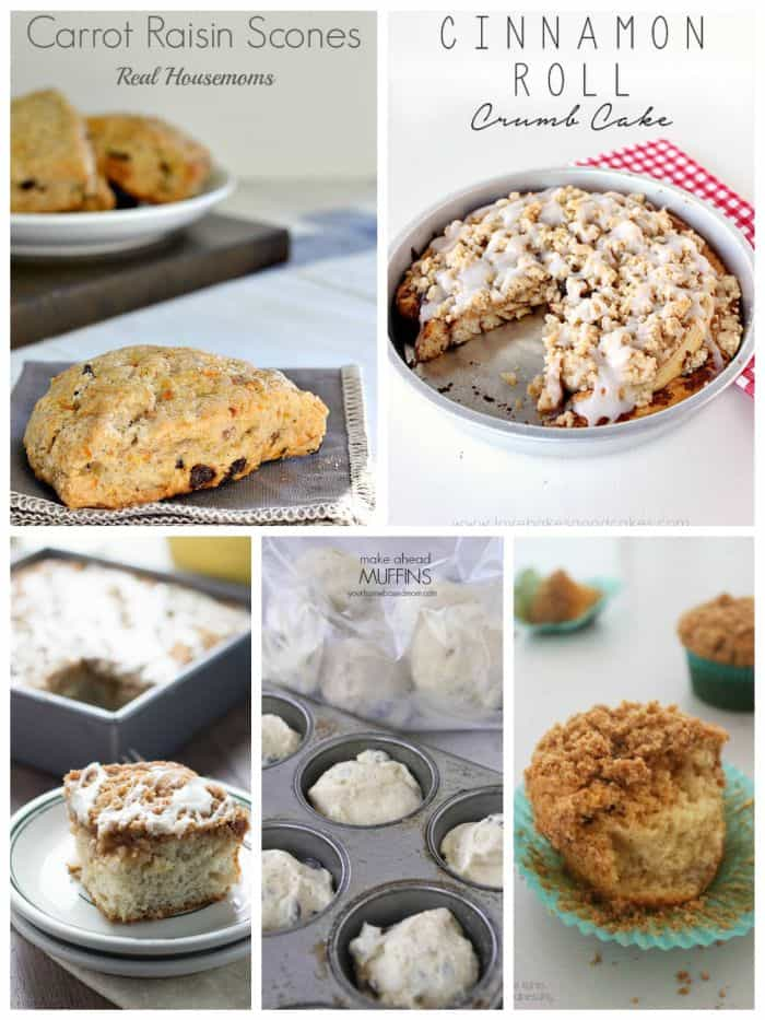 make ahead muffins, scones, and cakes