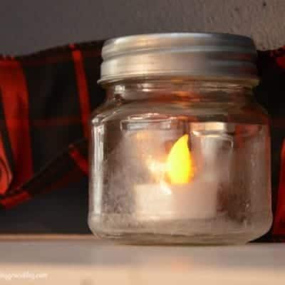 Salt Crystal Frosted Candle Jars