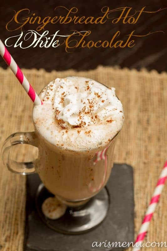 Gingerbread Hot White Chocolate