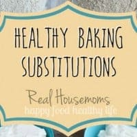 Healthy Baking Substitutions Graphic