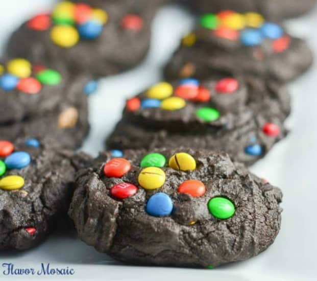 Mini M&M Chocolate Cookies