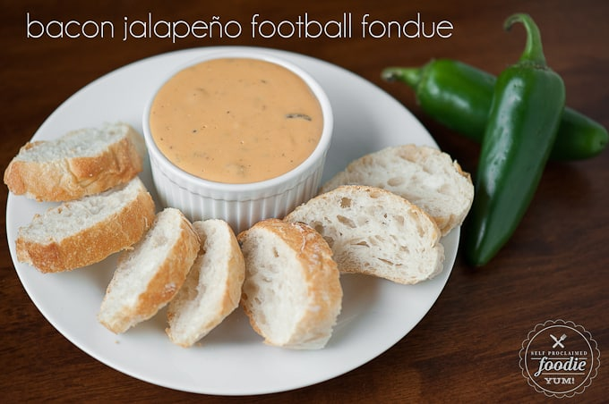 Bacon Jalapeño Football Fondue | Self Proclaimed Foodie