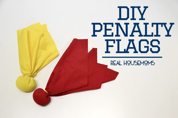 DIY Penalty Flags   Real Housemoms