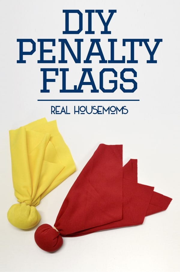 DIY Penalty Flags | Real Housemoms
