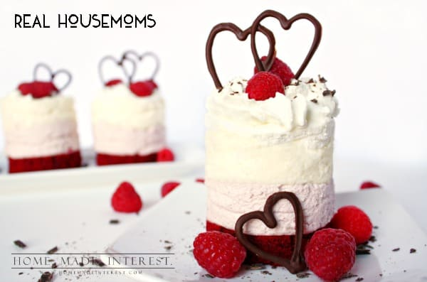 Mini Raspberry Mousse Cakes | Real Housemoms