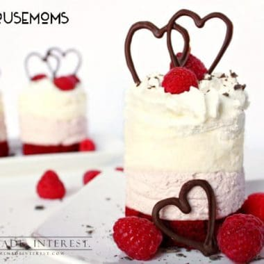 Mini Raspberry Mousse Cakes
