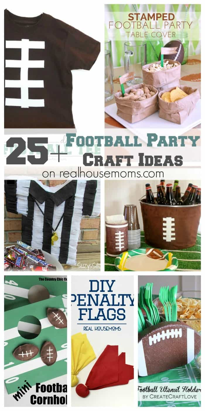 25+ Football Party Craft Ideas | Real Housemoms
