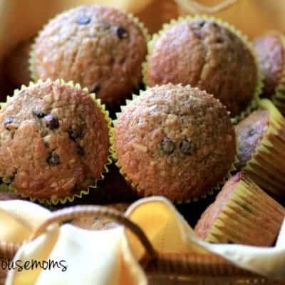 Banana Chocolate Chip Coconut Muffins