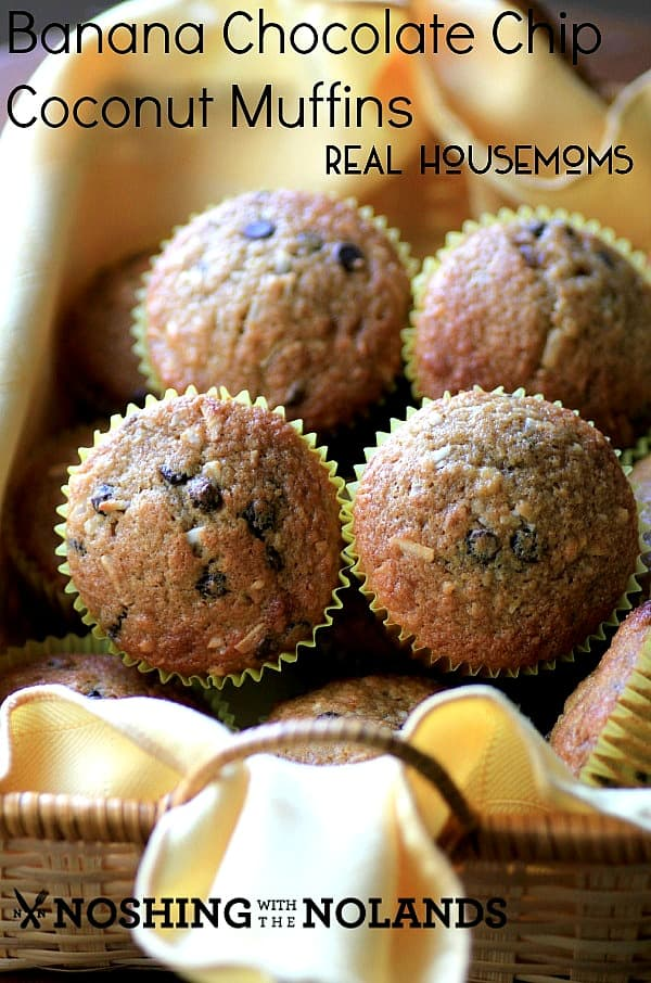 Banana Chocolate Chip Coconut Muffins | Real Housemoms
