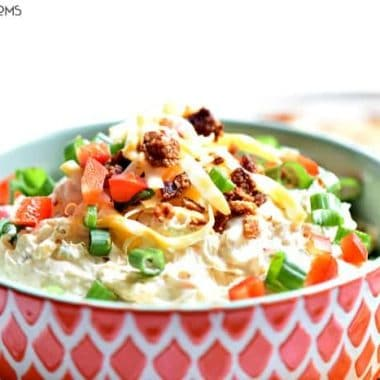 Cheesy bacon Chipotle Ranch Dip. Served in a sharing bowl
