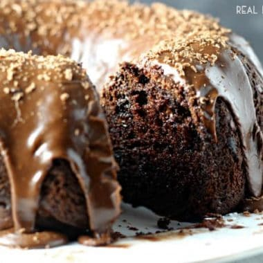 Chocolate Overload Cake | Moist chocolate cake with rich fudge-like icing