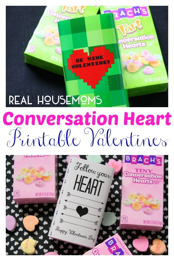 Conversation Heart Printable Valentines | Real Housemoms