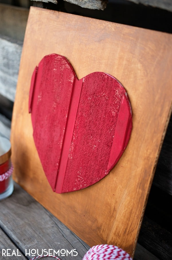 DIY Wood Heart Art | Real Housemoms