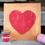 DIY Wood Heart Art