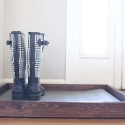 DIY Wooden Boot Tray & Shoe Organizer