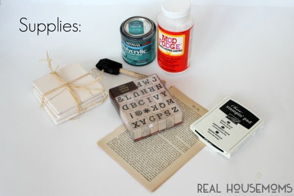 DIY Love Quote Coasters |  Real Housemoms