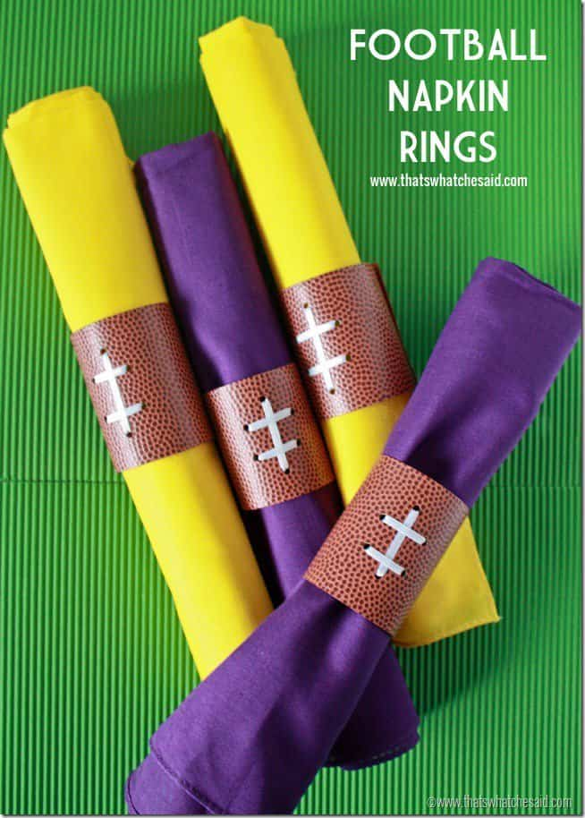 Football Napkin Rings