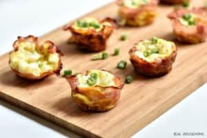 Ham Swiss and Egg Cups are such an easy make ahead breakfast full of protein and lots of yummy flavor!