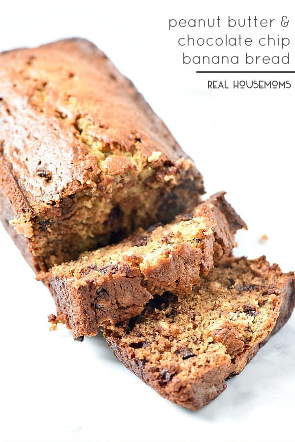 Peanut Butter Chocolate Chip Banana Bread ⋆ Real Housemoms