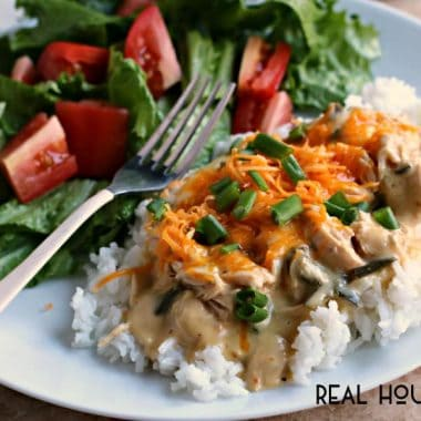 Slow Cooker Poblano Chicken
