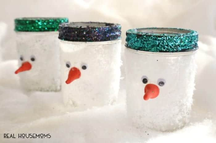 Snowman Mason Jars | Real Housemoms