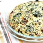 Spinach Mushroom Feta Crustless Quiche