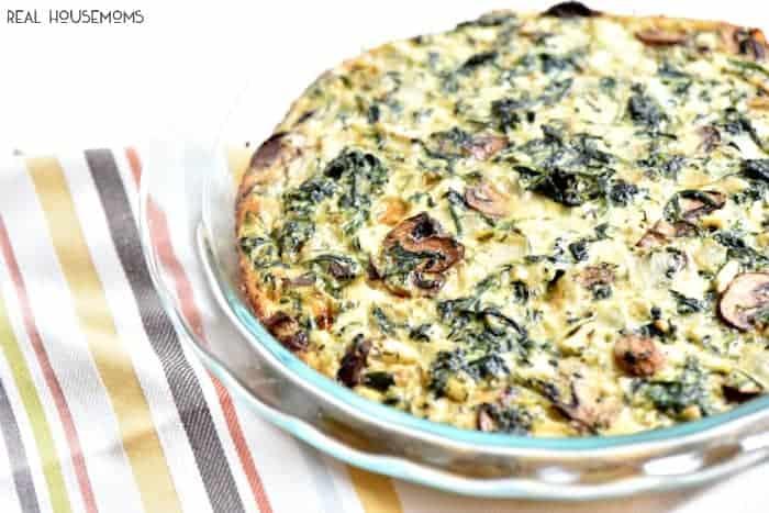 asparagus mushroom feta quiche