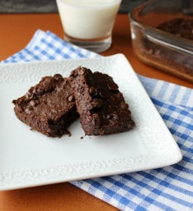fudgy black bean brownies 2