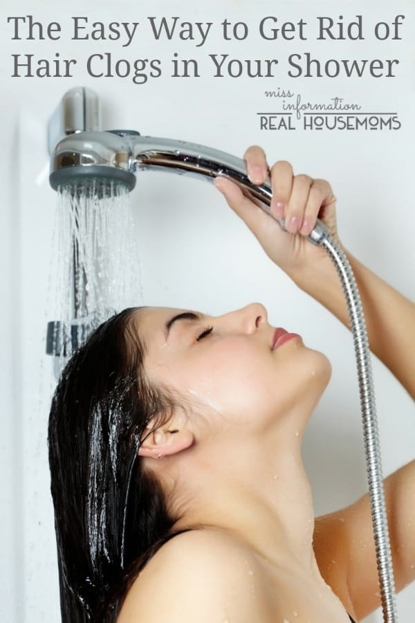 The Easy Way to Unclog Hair From Your Shower | Real Housemoms