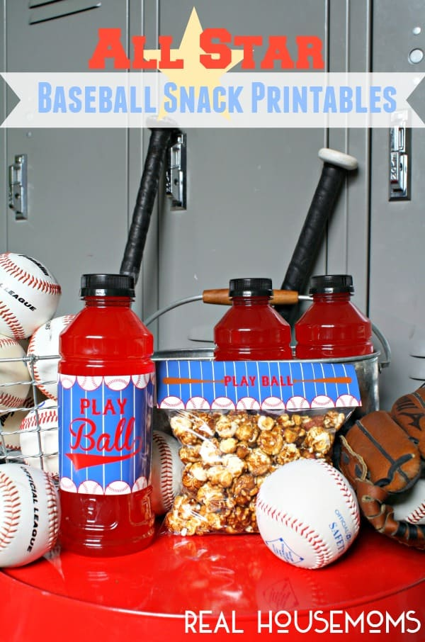 All Star Baseball Snack Printables | Real Housemoms