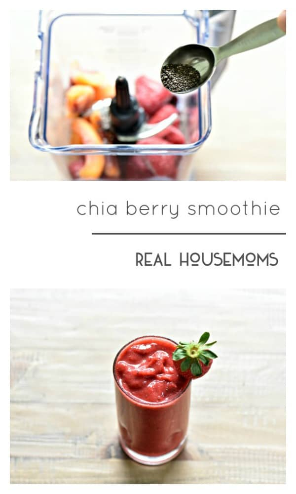 Chia Berry Smoothie is a great way to start the day!