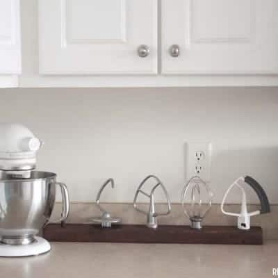 DIY Stand Mixer Attachments Organizer