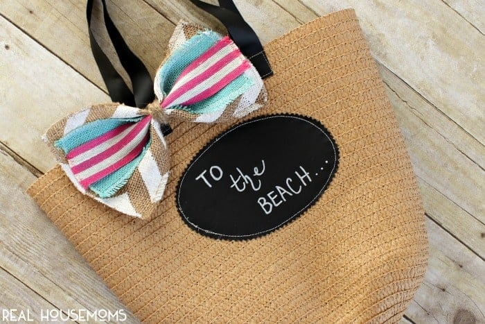Personalized $1 Spot DIY Personalized Beach Tote | Real Housemoms