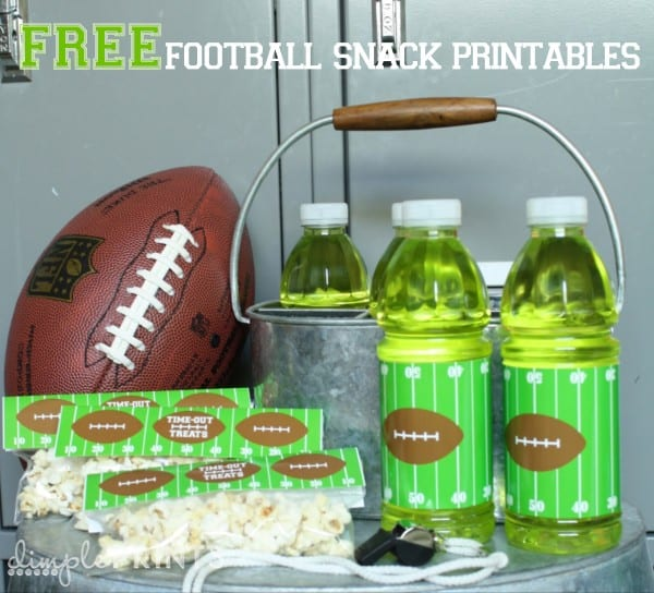 Free Football Snack Printables | Real Housemoms
