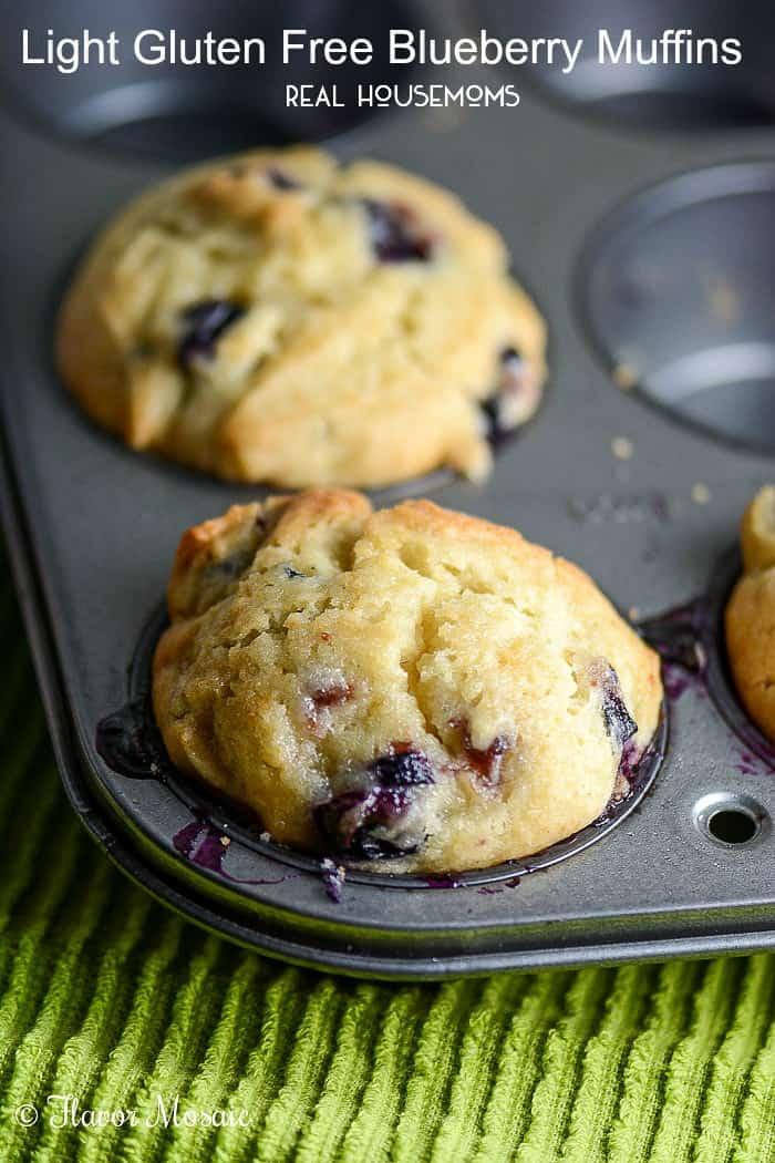 Light Gluten Free Blueberry Muffins | Real Housemoms #glutenfree