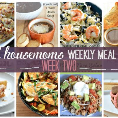 Weekly Meal Plan {Week 2}