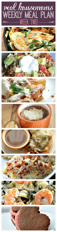 Weekly Meal Plan {Week 2} | Real Housemoms