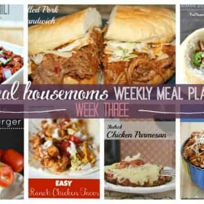 Weekly Meal Plan {Week 3}