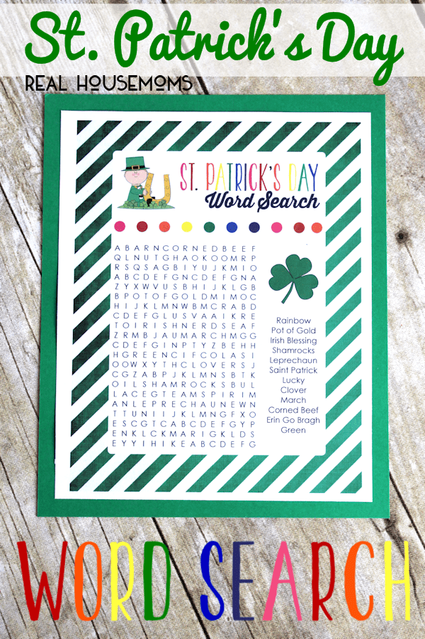 St. Patrick's Day Word Search | Real Housemoms