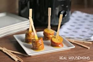 Slow Cooker Honey Mustard Kielbasa Bites l Real Housemoms