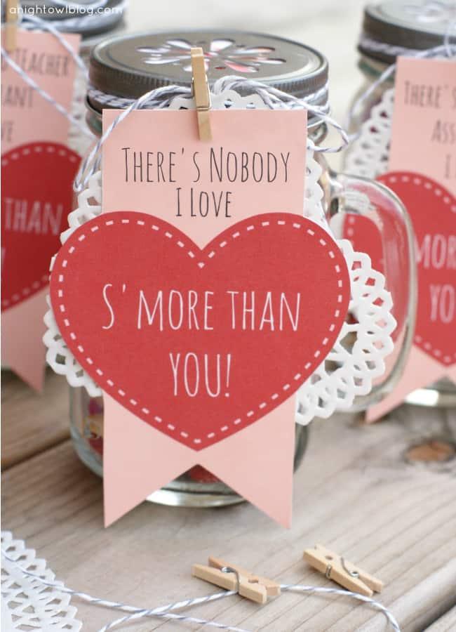 S'mores Valentines | anightowlblog.com