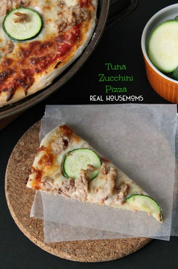 Tuna Zucchini Pizza   Real Housemoms