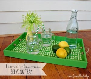 Upcycle Old Toy Bins Into Beautiful (and useful) serving trays!