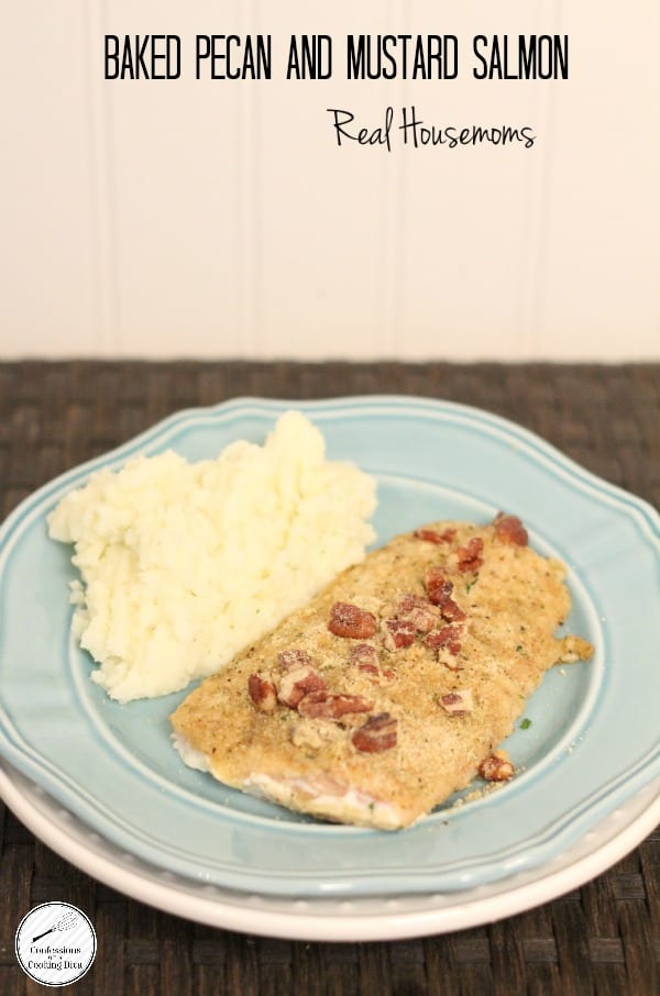 Baked Pecan and Mustard Salmon | Real Housemoms