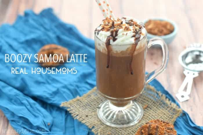 This Boozy Samoa Latte is your favorite cookie, your cup of coffee, and your cocktail all in one!
