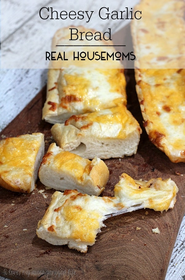 Lots of garlic and two kinds of cheese make this cheesy garlic bread the best ever! Perfect for dipping in your pasta or marinara sauce. Also goes great with a salad and is fabulous on it's own.