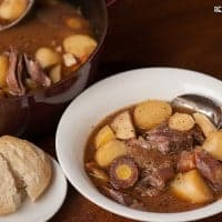 Although Dutch Oven Pot Roast takes awhile to cook, its very easy to make this one pot wholesome dinner that is the ultimate cold weather comfort food.