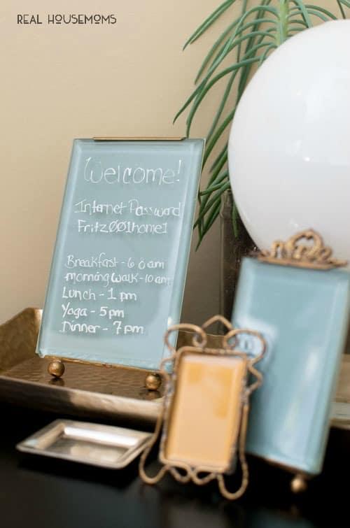 DIY Glass Memo Board | Real Housemoms