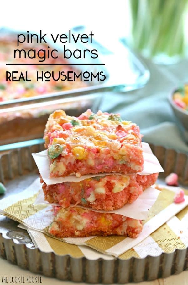 Pink Velvet Magic Bars | Real Housemoms
